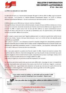 Bulletin d'information CGT n° 80 Experts autos