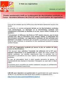 Premier questionnaire inédit sur le phénomène des discriminations syndicales en France – baromètre Défenseur des Droit OIT avec la participation des organisations