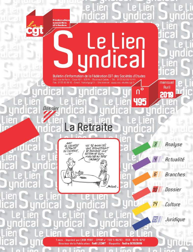 Le lien syndical n°495 – Avril 2019