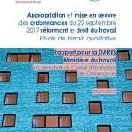 Appropriation et mise en oeuvre des ordonnances du 22 septembre 2017 réformant le droit du travail