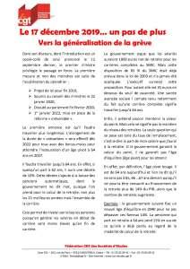 Le 17 décembre 2019… un pas de plus vers la généralisation de la grève