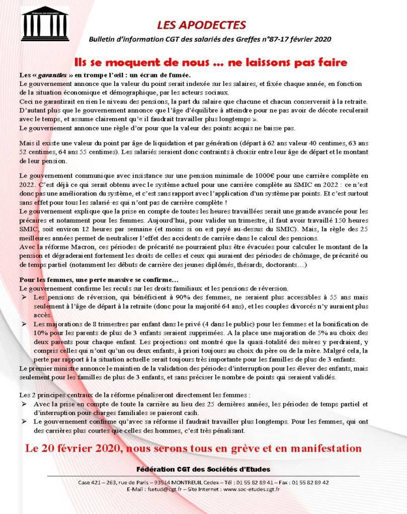 Les Apodectes n°87