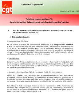 Fiche DLAJ Fonction publique n°3 :  Autorisation spéciale d'absence, congé maladie ordinaire, garde d'enfants…
