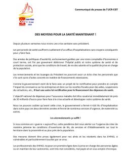 DES MOYENS POUR LA SANTÉ MAINTENANT !