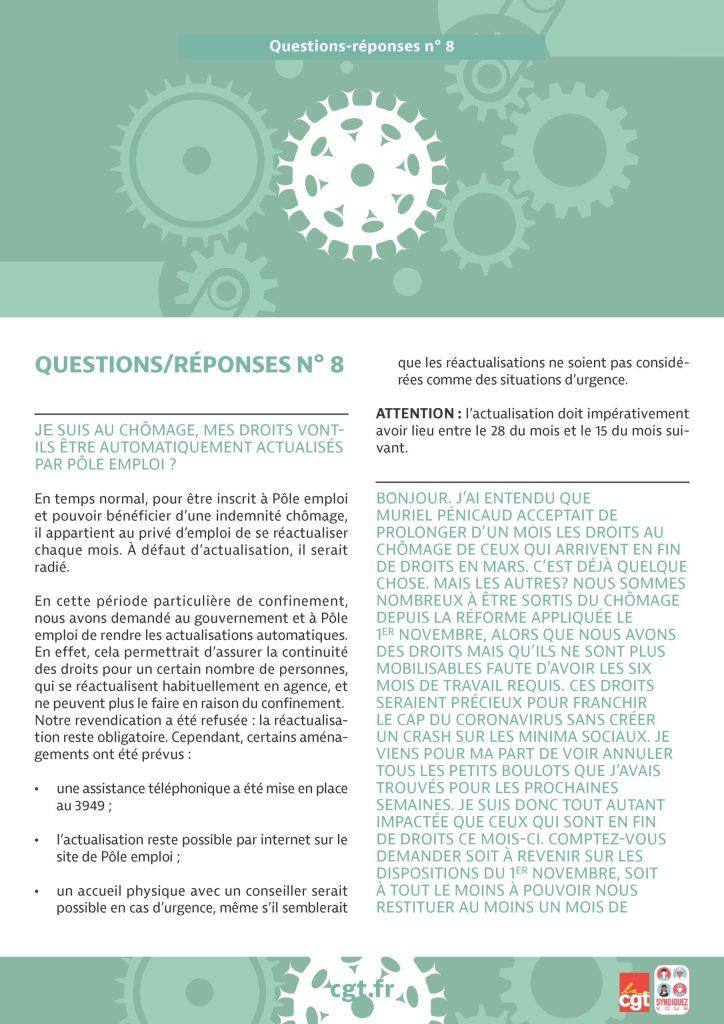 Coronavirus : Questions-réponses n°8