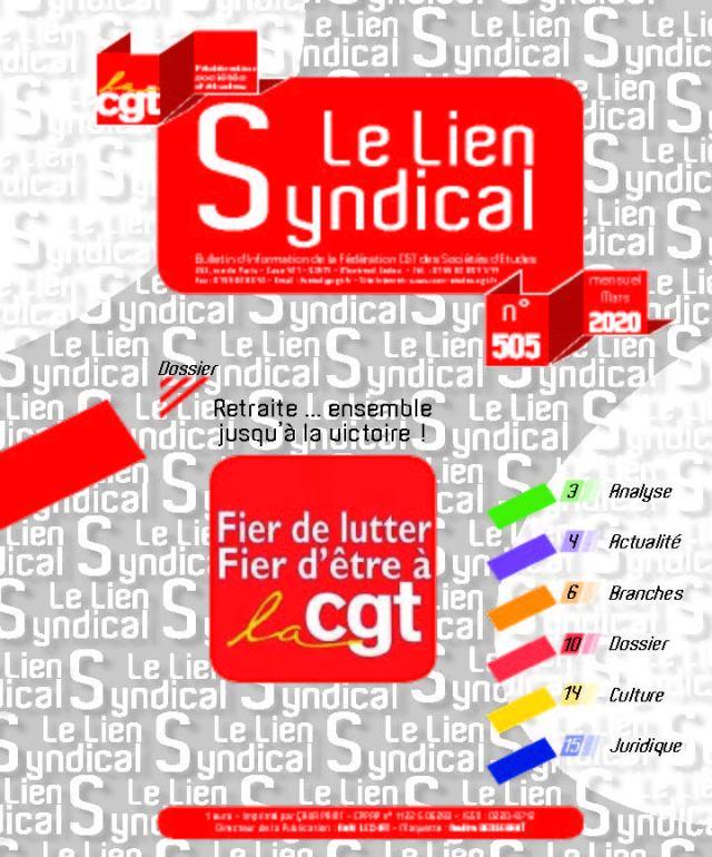 Le lien syndical n°505 – Mars 2020