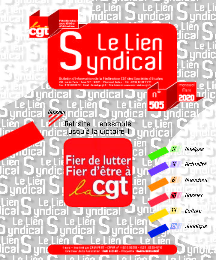Le lien syndical n°505 – Mars 2020