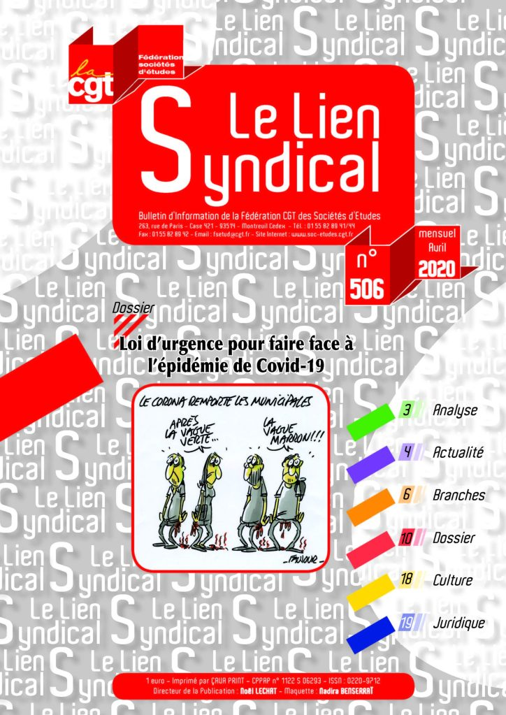Le lien syndical n°506 – Avril 2020