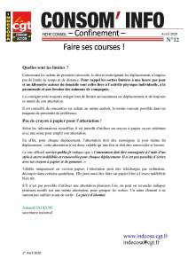 Consom'Info n°12 – Avril 2020
