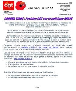 APAVE : Info groupe n°85