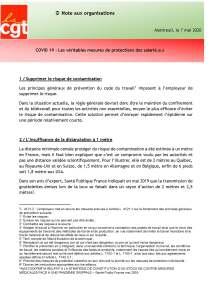 COVID 19 – Les véritables mesures de protections des salarié.e.s