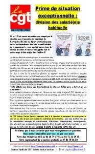 SODEXO : Prime de situation exceptionnelle : division des salarié(e)s habituelle