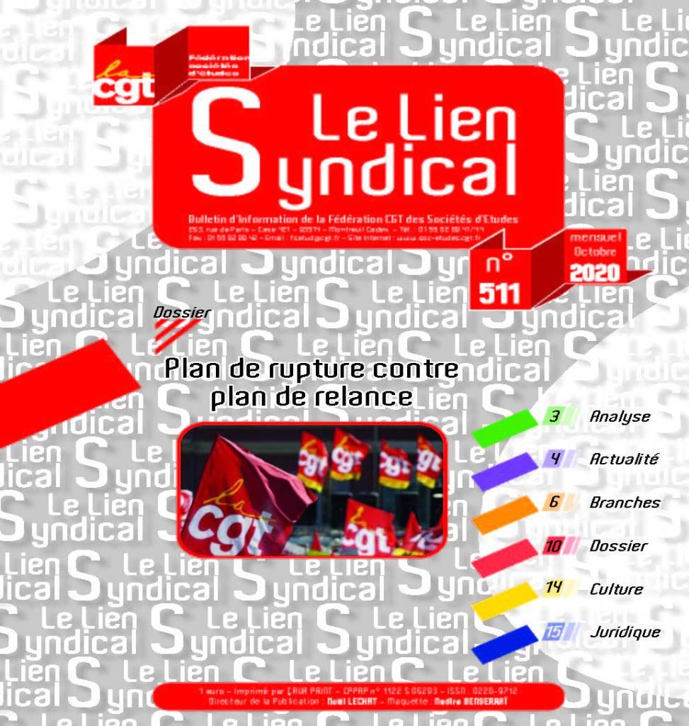 Le lien syndical n°511 – Octobre 2020