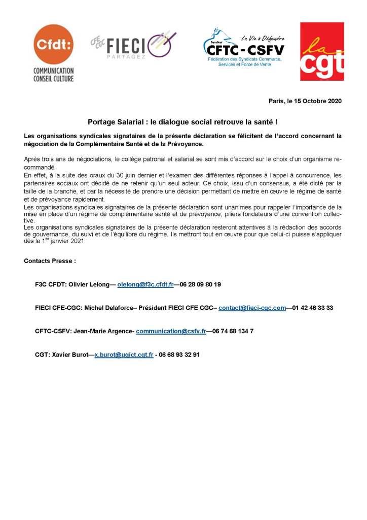 Portage Salarial : le dialogue social retrouve la santé !