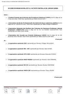 PRAJ : Accord de branche relatif à l'activité partielle de longue durée