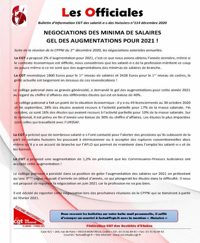 Les officiales n°114