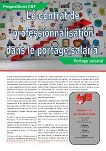 Le contrat de professionnalisation dans le portage salarial