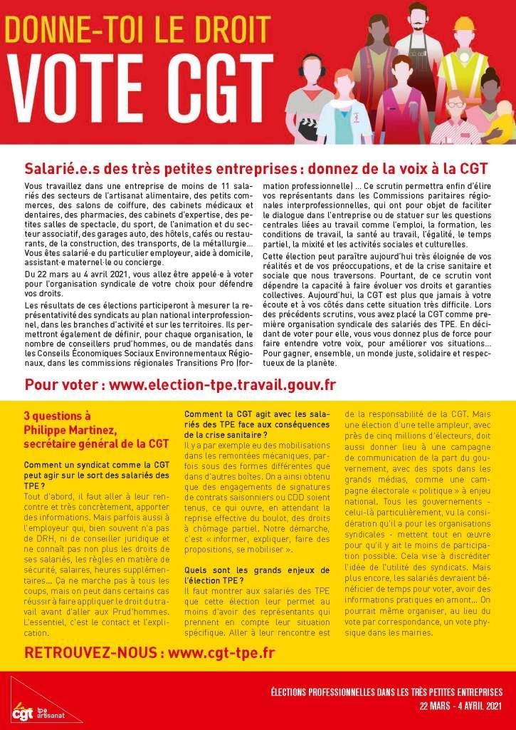 Portage salarial : Donne-toi le droit, vote CGT