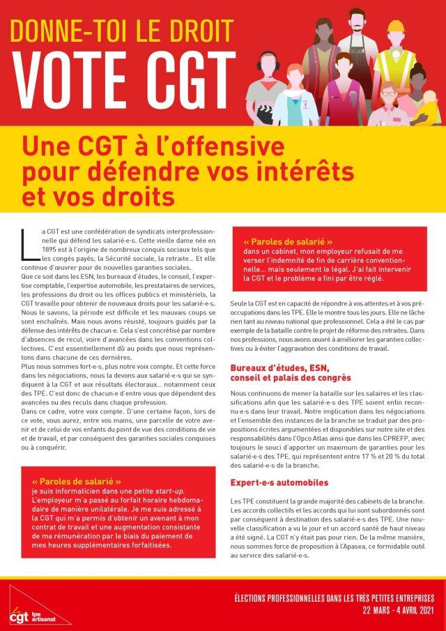 DONNE-TOI LE DROIT VOTE CGT