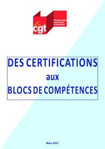Des certifications aux blocs de compétences