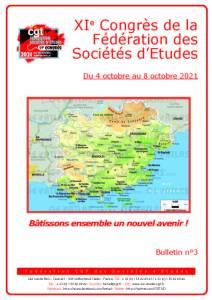 11e Congrès : Bulletin n°3