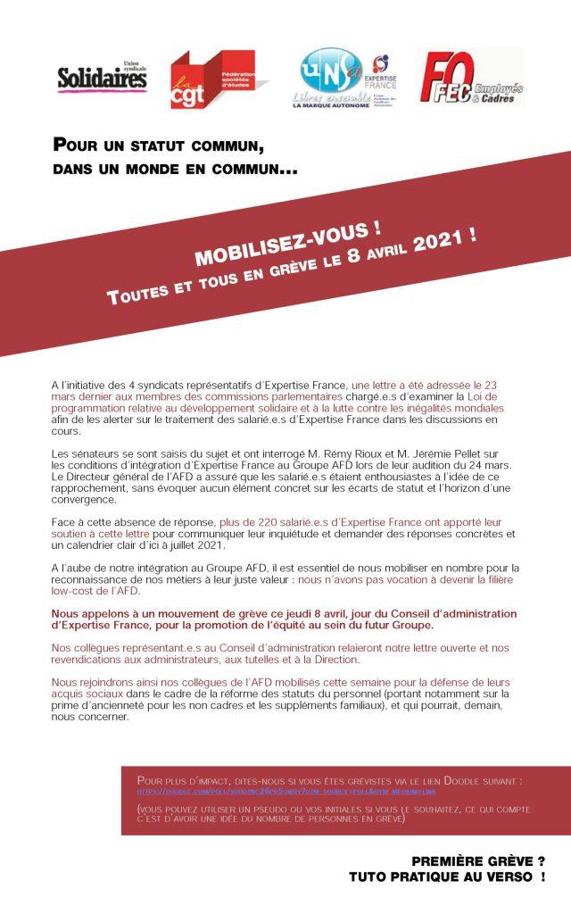 Expertises France : Pour un statut commun, dans un monde en commun…