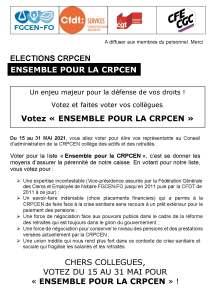Ensemble pour la CRPCEN – Bulletin n°3