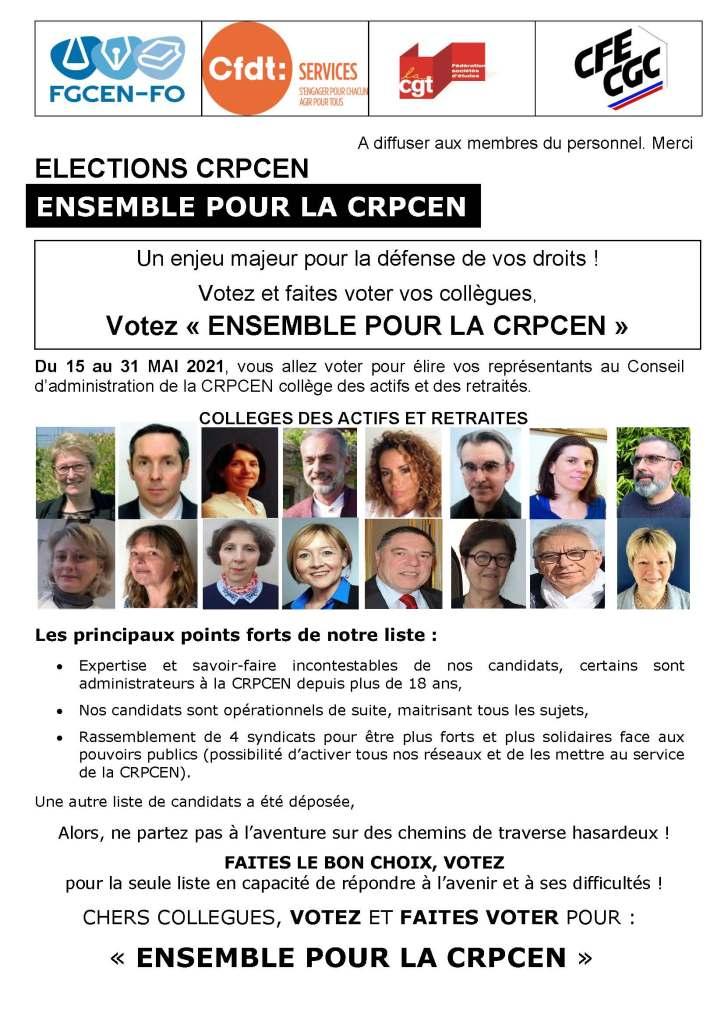Ensemble pour la CRPCEN – Bulletin n°5