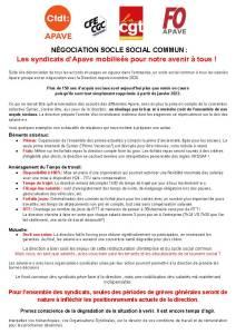APAVE : Négociations Socle Social Commun : Les syndicats d'Apave mobilisés pour notre avenir à tous !