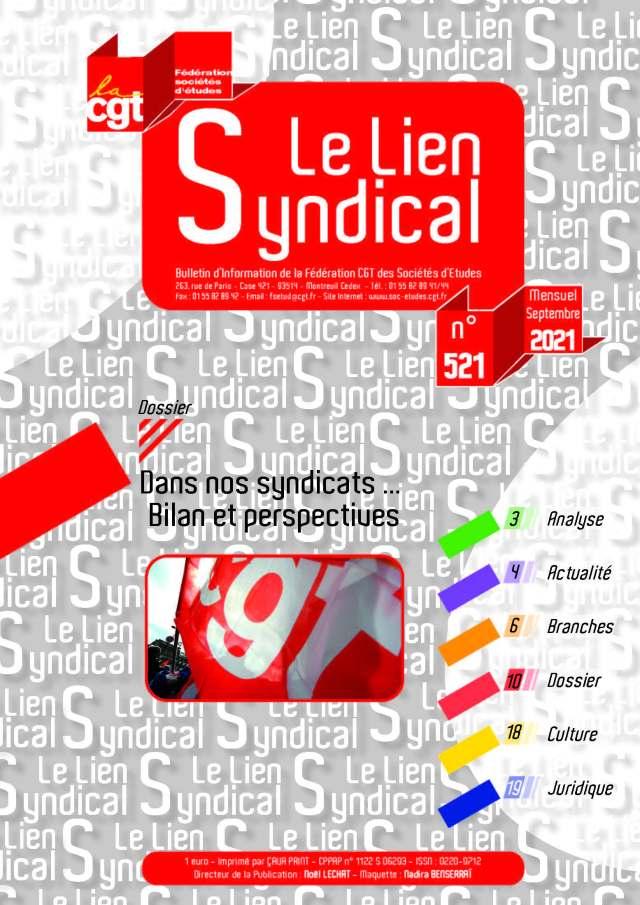 Le lien syndical n°521 – Septembre 2021