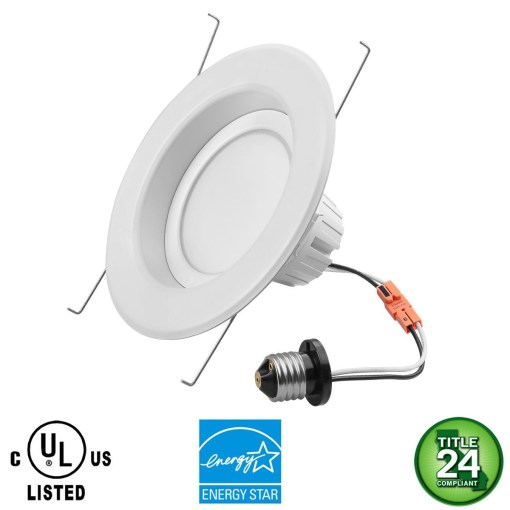 "4"" LED Recessed Downlight Retrofit Lamp 11W Dimmable"