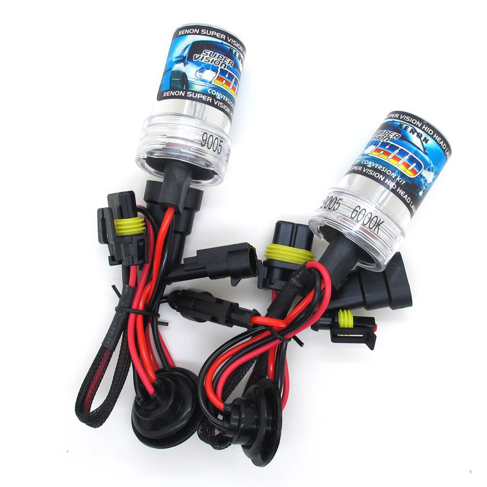 2X BULBS FOR AFTER MARKET HID CONVERSION KIT XENON 8000K BLUE 35W PLUG IN