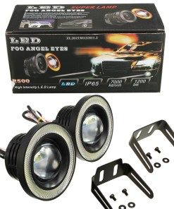 "LED Angel Eye Fog Light Bulbs 3.5"" White"