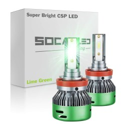 lime green led fog light kit