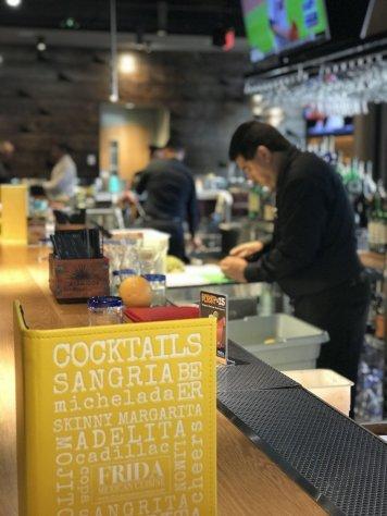 Frida's drink menu & bar.