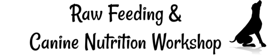 raw feeding adult dogs & canine nutrition workshop header