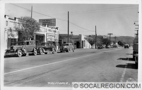1938 view of Sierra Highway near Palmdale Blvd.