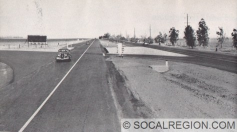 US 99 at the US 399 junction - 1939.