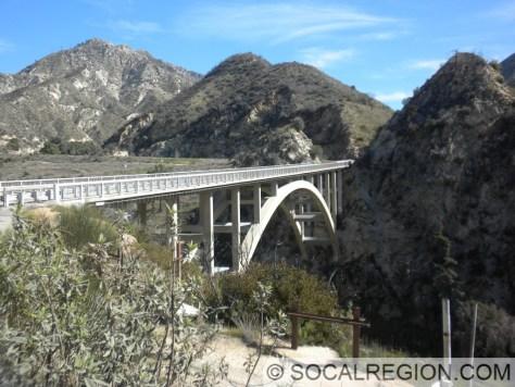 1958 concrete arch bridge near Big Tujunga Dam.