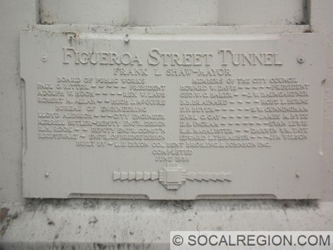 Tunnel dedication plaque at the north portal of Tunnel #1.