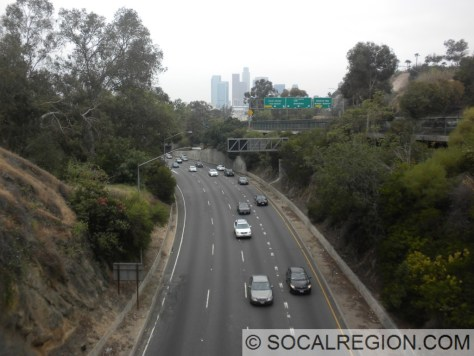 View of NB 110 from the south portal of Tunnel #1.