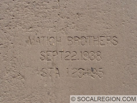 Date stamp on the concrete lanes from 1938.