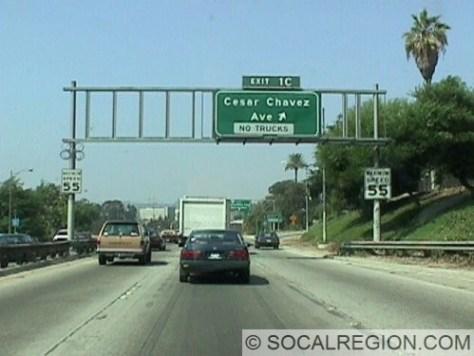 Near the San Bernardino Split - US 101 NB