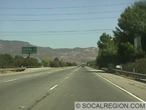 Freeway through Simi Valley. Constructed in 1968.