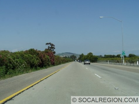 Typical section of freeway. This is west of Santa Paula.
