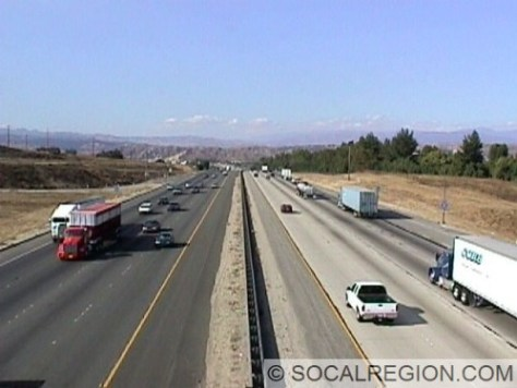 I-5 northbound just south of Magic Mountain in Santa Clarita.