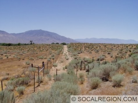 Near Sunland Reservation Road. Section of 1920's alignment heading southeast from current US 395.