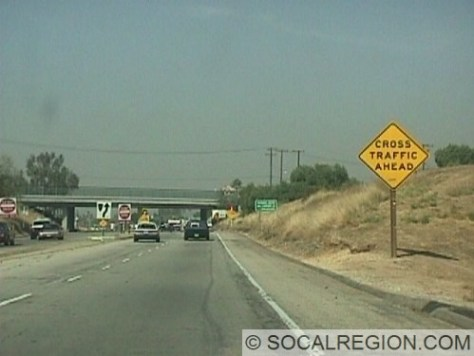 End of the freeway at Yorba Linda Blvd. Overpass is the Lakeview Avenue OC, 55-345.