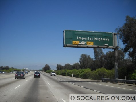 605 north at Imperial Highway. Hwy 42 and Firestone Blvd are covered over here because of the 105 Freeway.
