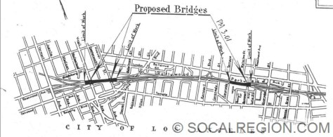 Earliest plan for the interchange in 1947. This design was not built.